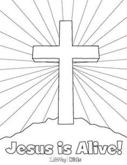 He Is Risen Coloring Page 32