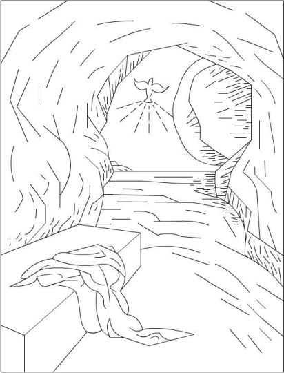 He Is Risen Coloring Page 33