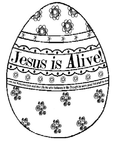 He Is Risen Coloring Page Part 4