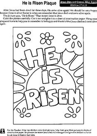 He Is Risen Coloring Page 37