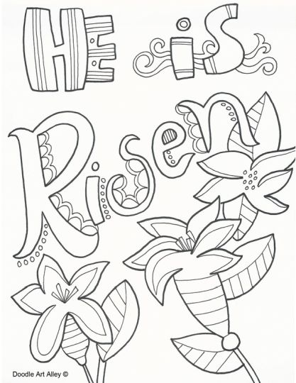 He Is Risen Coloring Page 38
