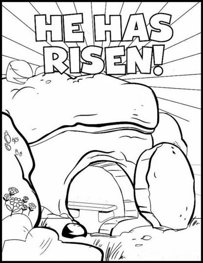 He Is Risen Coloring Page 39