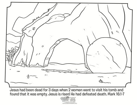 He Is Risen Coloring Page 4