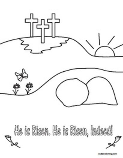 He Is Risen Coloring Page 42