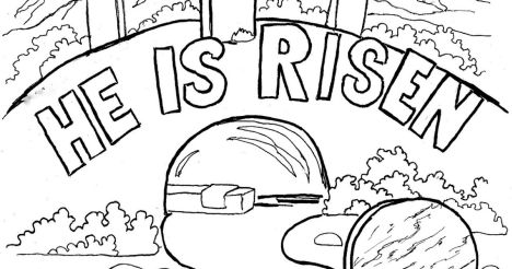 He Is Risen Coloring Page 46
