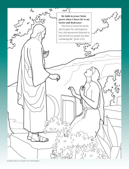 He Is Risen Coloring Page 5