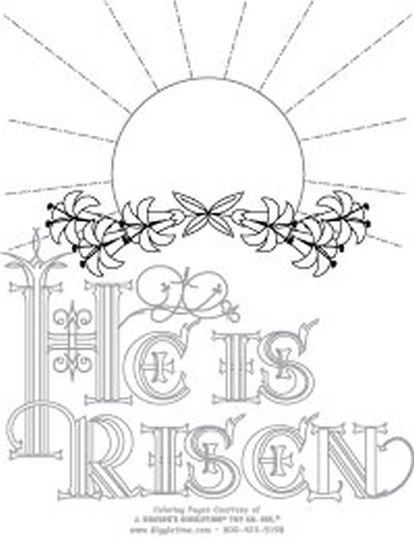 He Is Risen Coloring Page 6