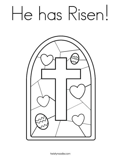 He Is Risen Coloring Page 7