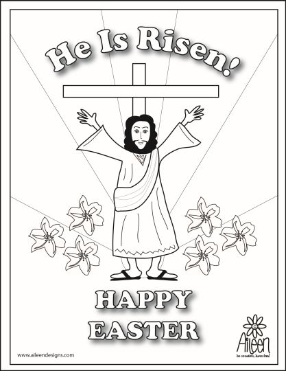 He Is Risen Coloring Page 8