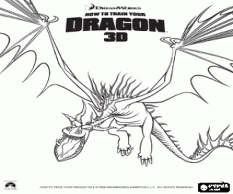 How To Train Your Dragon Coloring Pages Monstrous Nightmare 2