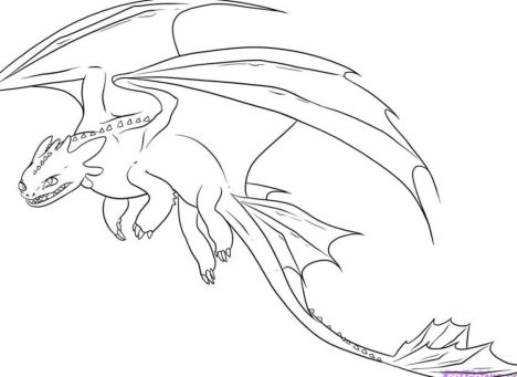 How To Train Your Dragon Coloring Pages Monstrous Nightmare 20