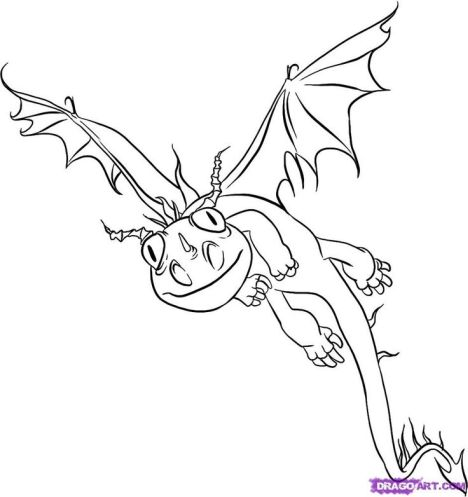 How To Train Your Dragon Coloring Pages Monstrous Nightmare 21
