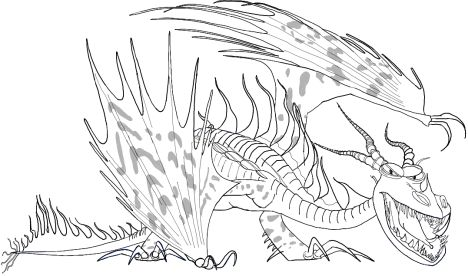 How To Train Your Dragon Coloring Pages Monstrous Nightmare 23