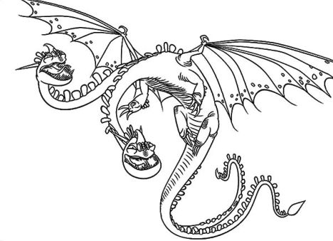 How To Train Your Dragon Coloring Pages Monstrous