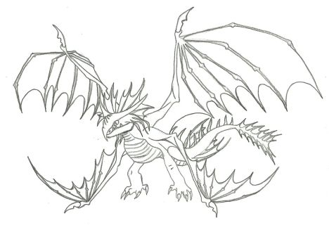 How To Train Your Dragon Coloring Pages Monstrous Nightmare 36