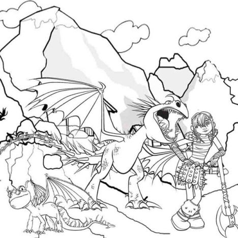 How To Train Your Dragon Coloring Pages Monstrous Nightmare 38