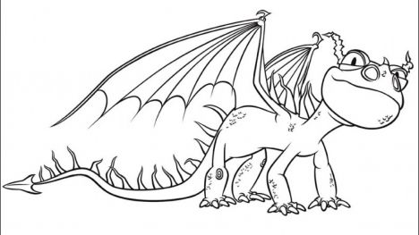 How To Train Your Dragon Coloring Pages Monstrous Nightmare 39