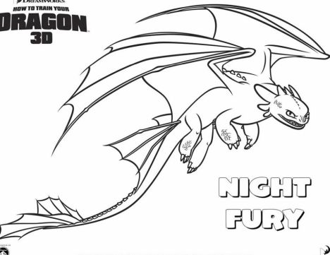 How To Train Your Dragon Coloring Pages Monstrous Nightmare 4