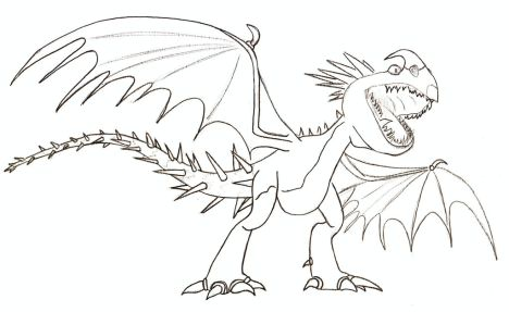 How To Train Your Dragon Coloring Pages Monstrous Nightmare 42