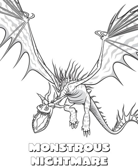 How To Train Your Dragon Coloring Pages Monstrous Nightmare 46