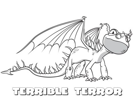 How To Train Your Dragon Coloring Pages Monstrous Nightmare 5