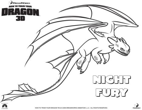 How To Train Your Dragon Coloring Pages Monstrous Nightmare 50