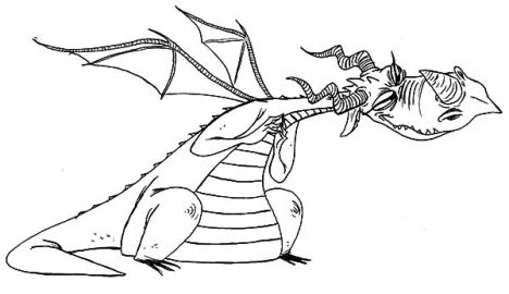 How To Train Your Dragon Coloring Pages Monstrous Nightmare 52