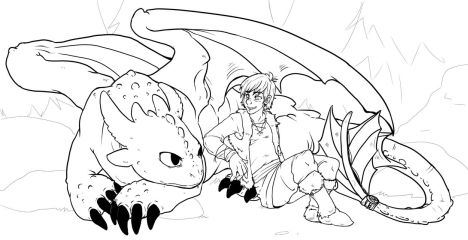 How To Train Your Dragon Coloring Pages Monstrous Nightmare 53
