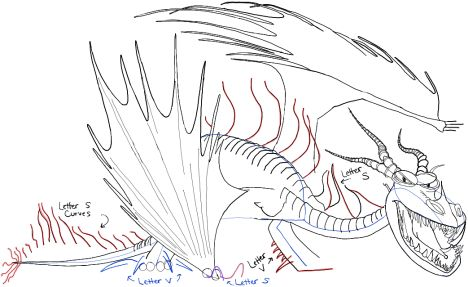 How To Train Your Dragon Coloring Pages Monstrous Nightmare 54
