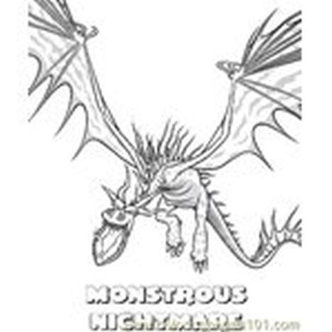 How To Train Your Dragon Coloring Pages Monstrous Nightmare 56