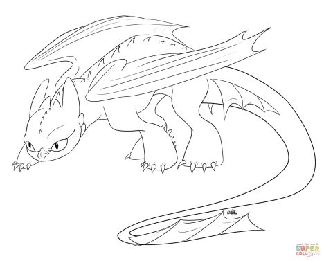 How To Train Your Dragon Coloring Pages Monstrous Nightmare 57