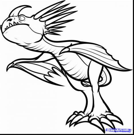 How To Train Your Dragon Coloring Pages Monstrous Nightmare 59