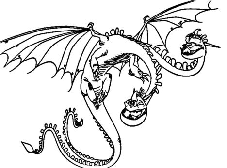 How To Train Your Dragon Coloring Pages Monstrous Nightmare 6