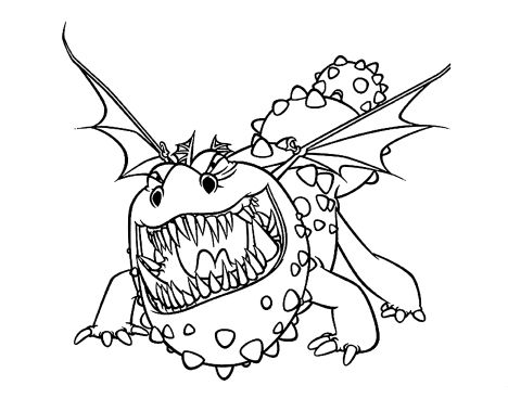 How To Train Your Dragon Coloring Pages Monstrous Nightmare 8