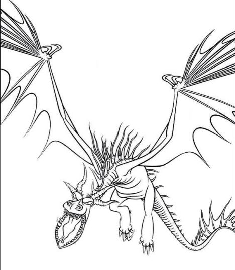 How To Train Your Dragon Coloring Pages Monstrous Nightmare 9