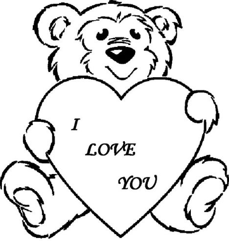 I Love You Coloring Pages For Teenagers Printable 11