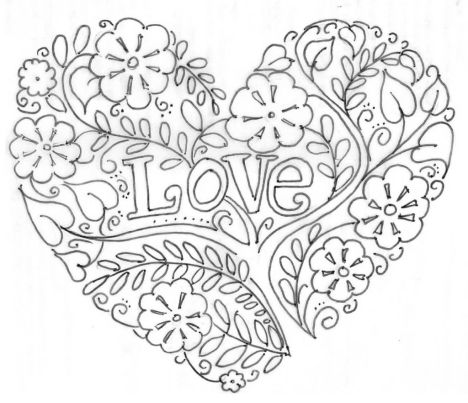 I Love You Coloring Pages For Teenagers Printable 12