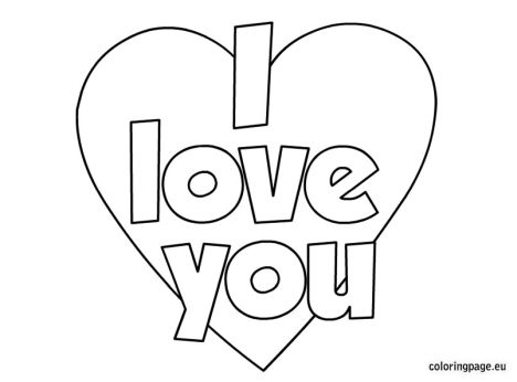 I Love You Coloring Pages For Teenagers Printable 14