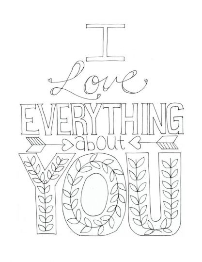 I Love You Coloring Pages For Teenagers Printable 17