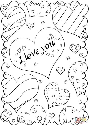 I Love You Coloring Pages For Teenagers Printable 18