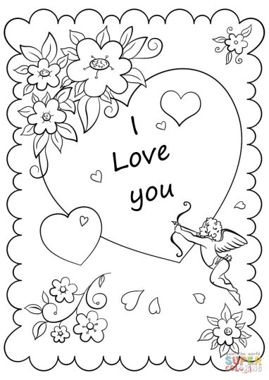 I Love You Coloring Pages For Teenagers Printable 19
