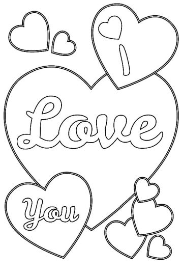 I Love You Coloring Pages For Teenagers Printable 20