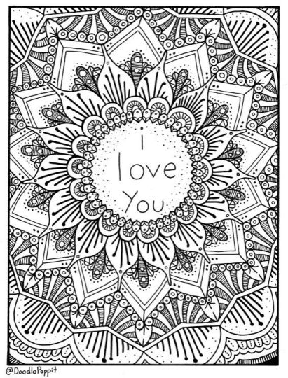I Love You Coloring Pages For Teenagers Printable 22