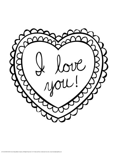 I Love You Coloring Pages For Teenagers Printable 23
