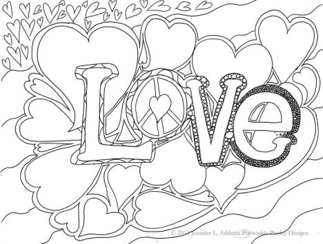 I Love You Coloring Pages For Teenagers Printable 24