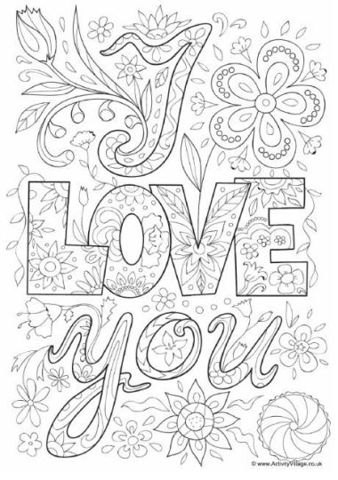I Love You Coloring Pages For Teenagers Printable 25