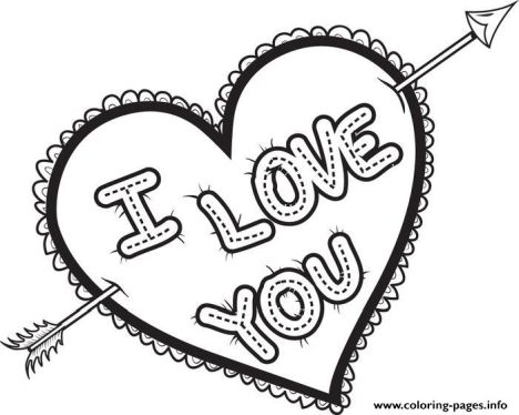 I Love You Coloring Pages For Teenagers Printable 26