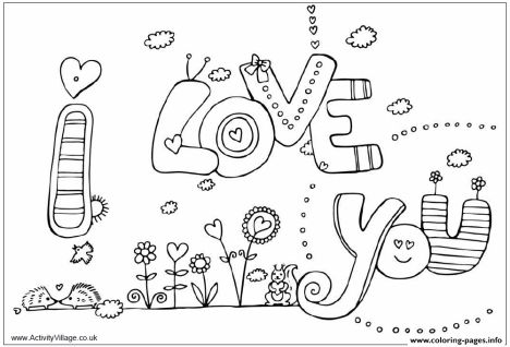 I Love You Coloring Pages For Teenagers Printable 27