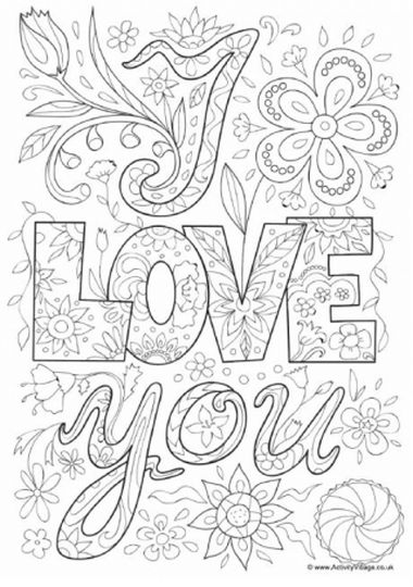 I Love You Coloring Pages For Teenagers Printable 30