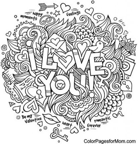 I Love You Coloring Pages For Teenagers Printable 33